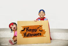 Premium image by rawpixel.com Halloween Images, Halloween Bats, Kids Around The World, Cute Kids, Lanterns, Scary, Cheer, Childhood, Banner
