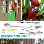 Five Spring Ideas from Plastic Spoons...love the idea of turning the spoons into eggs