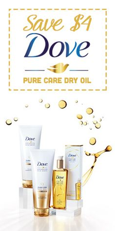 #Save $4 On #Dove Pure Care Dry #Oil #Haircare