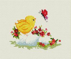 Cross Stitch Rose, Modern Cross Stitch, Cross Stitch Kits, Cross Stitch Designs, Cross Stitch Embroidery, Cross Stitch Patterns, Easter Flower Arrangements, Easter Flowers, Spring Flowers