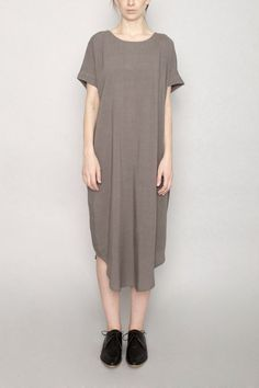 04ed8a0390 7115 by Szeki - Cap Sleeve Reversible Maxi - Gray