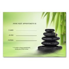 Zen Spa Massage Business Appointment Card Business Card Templates created by This design is available on several paper types and is totally customizable. Massage Therapy Rooms, Massage Room, Spa Massage, Massage Therapy Business Cards, Massage Business, Spa Business Cards, Business Ideas, Business Marketing, Ayurvedic Therapy
