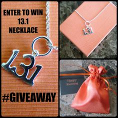 RUNNING WITH OLLIE: Half Marathon 13.1 Necklace Giveaway! Click through to enter. Ends 1/10/2014 #fitfluential