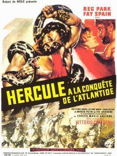 Hercule à la conquête de l'Atlantide (Vittorio Cottafavi, 1961). Derrière le spectaculaire et la légendaire Antinéa se profilent des inquiétudes, en pleine guerre froide, sur la menace nucléaire. Avec un Hercule inattendu.