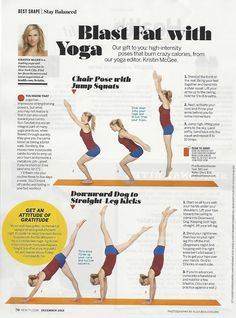 Blast Fat With Yoga From Expert Kristin McGee In Health Magazine Goodhealth