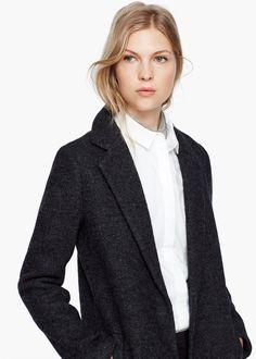 Пальто из букле с шерстью
