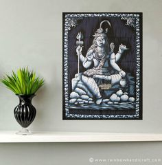 OM AUM MANTRA Indian Wall Hanging Cotton Batik Tapestry Poster Table Cloth Throw