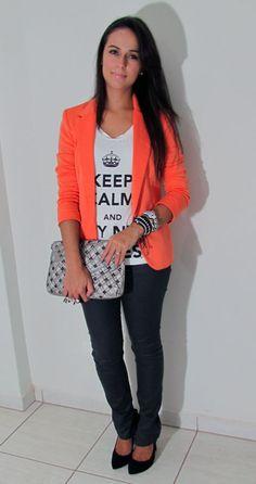 Orange + Grey!