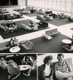 On April 3, 1961 UCLA's new student union officially opened, later named for William C. Ackerman. In the images, the new student union ballroom offered Bruins a stylish lounge by day and space for 1,000 couples to dance by night. UCLA History - UCLA Alumni