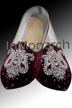 Mens Maroon Brocade Wedding Shoes Fashionable MJ0025