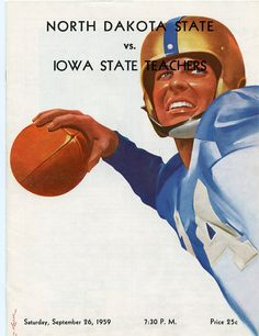 https://flic.kr/p/cR8EML | Football Program  vs. UNI - 1959 | Description: Football program.  North Dakota State vs. Iowa State Teachers College (University of Northern Iowa).  The NDSU Bison won this contest by a score of 32 to 22 on Dacotah Field.  For the 1959 season, the Bison went 4-4-1.  Date of Original: September 26, 1959  Item Number: SIR-1931-1994.22. 11 - 1959   Ordering Information:  library.ndsu.edu/archives/collections-institute/photograp...