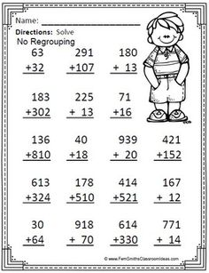 Grade Go Math Color By Numbers Addition of Multi-Digit Numbers to 1000 - - Math Practice Worksheets, Letter Worksheets For Preschool, 2nd Grade Worksheets, Go Math, Math For Kids, Math Drills, Math Sheets, Was Ist Pinterest, Learn English Words