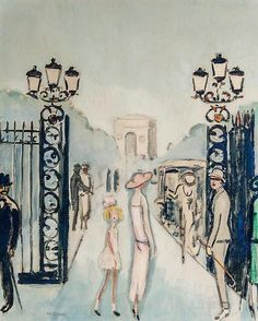 La Porte Dauphine Kees van Dongen (Dutch, Oil on canvas Ernst Ludwig Kirchner, Monte Carlo, Maurice De Vlaminck, Image Paris, Ouvrages D'art, Dutch Painters, Art Et Illustration, Post Impressionism, Van Gogh Museum