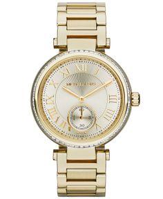 Michael Kors Watch, Women's Skylar Gold-Tone Stainless Steel Bracelet 42mm MK5867 - Watches - Jewelry & Watches - Macy's