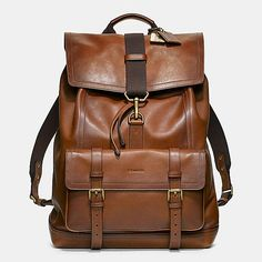 Bleecker Backpack in Leather. Coach