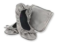 back to basics Sidekicks Foldable Ballet Flats Shoes w/ Carrying Case