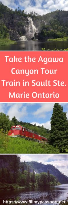 Experience the incredible Agawa Canyon Tour Train in Northern Ontario. One of the most incredible places upon the Canadian Shield. It is especially unreal in the fall when you see the fall foliage change to red gold and orange. Check out the Agawa Canyon in Sault Ste. Marie Ontario.