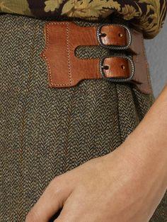 Ralph Lauren - leather skirt accents Inspiratie