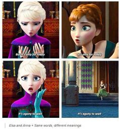 Frozen. There mental synchronization can have but one explanation