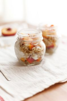 Try This Make-ahead, On-the-Go Breakfast: Honey Barley Peach Parfaits in Mason Jars, Wholeliving.com
