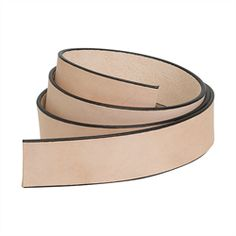 """Natural Strap Leather Belt Blank with Black Edge Paint, 1-1/2"""" Wide"""