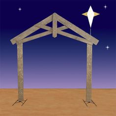 Enliven your nativity display with this two-dimensional Life-Sized Nativity Stable from Christmas Night Inc. Ward Christmas Party, Christmas Program, Christmas Yard, Outdoor Christmas, Christmas Projects, Christmas Pageant, Christmas Concert, Christmas Night, Christmas Bells