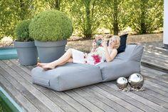 Outdoor Gartenliege PEAK 180 x 90 cm wetterfest Orange Furniture, Deck Furniture, Outdoor Furniture Sets, Furniture Design, Terrace Design, Patio Design, Garden Design, Outdoor Sofa, Outdoor Living