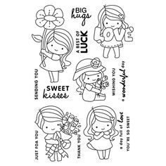 Look what I found on AliExpress Whimsy Stamps, Digi Stamps, Colouring Pages, Coloring Pages For Kids, Tampons Transparents, Kawaii Doodles, Cute Images, Copics, Planner Stickers