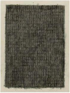 Jasper Johns, Alphabets, 1957. 19.875″x15.875″