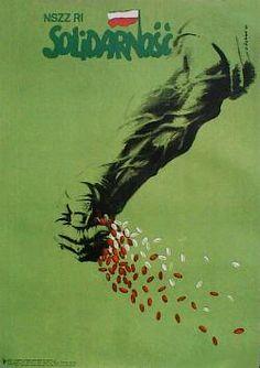 Designer: Karol Sliwka. Year: 1981. Title: Independent Labor Union of Individual Farmers, Solidarity.