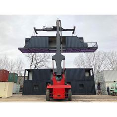 At Storstac we're stagingToronto's very FIRST Shipping Container house for its final fit before it's taken.