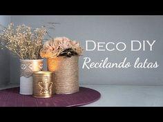 DIY: Tuto Decorar Tarros de Vidrio Reciclados (María Stuv) - YouTube