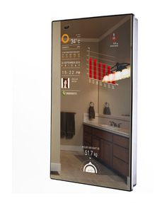 Welcome to the future. Cybertecture combines the traditional form and function of a mirror with the programmable apps and clean digital display of our favorite gadgets.