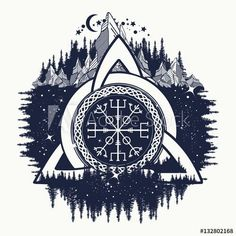 Oh. Love the idea of a Vegvisir within another tattoo