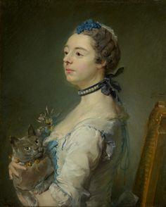 Magdaleine Pinceloup de la Grange, née de Parseval. By Jean-Baptiste Perronneau. French, 1747. Oil on canvas. Magdaleine Pinceloup de la Grange sits quite formally in this portrait by Jean-Baptiste Pe