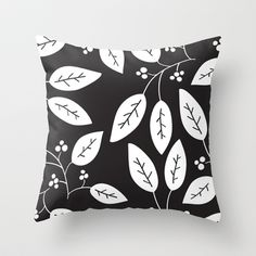 leaves patterned Throw Pillow by aticnomar - $20.00 Leaves, Throw Pillows, Pattern, Toss Pillows, Cushions, Patterns, Decorative Pillows, Decor Pillows, Model