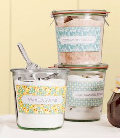 How to make flavored sugars -- and then package them as gifts. (Great for #MothersDay!)