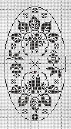 @nika Filet Crochet Charts, Crochet Motif, Crochet Doilies, Knit Crochet, Crochet Table Runner Pattern, Crochet Tablecloth, Xmas Cross Stitch, Cross Stitch Cards, Christmas Crochet Patterns