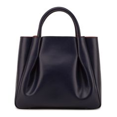 Maxi Ruched Tote Navy | Alexandra de Curtis | Wolf & Badger