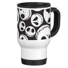 Jack Skellington patterned travel coffee mug