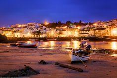 Blue Hour Lights at Ferragudo, Algarve, Portugal