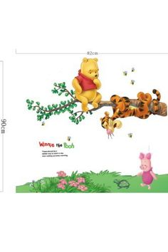 Hunnt® Winnie the Pooh Tiger Sitting on a Branch Wall Sticker and Decal, http://www.amazon.com/dp/B00CSQ1MN8/ref=cm_sw_r_pi_awdm_XN8xub0J8KPDE