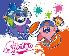 This is so cool! I just can't wait to play splatoon! #Kirby #MetaKnight #Splatoon