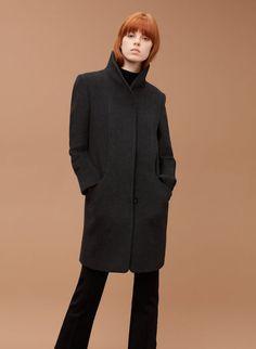 WILFRED COCOON COAT XS $325 Dark Charcoal Italian Wool Cashmere Minimalist  #Wilfred #BasicCoat #Any