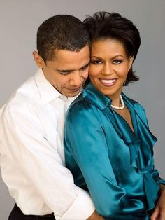The Obamas - they're regular people and I love the fact that they're okay with being affectionate in public.