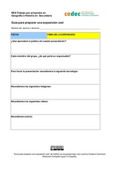 Ficha organización trabajo de exposición