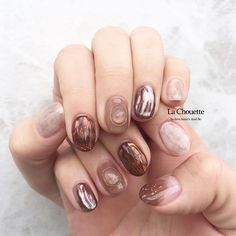 Cute Nails, My Nails, Cute Nail Designs, Pink Brown, Nail Arts, Nails Inspiration, Finger, Tomboy, Instagram
