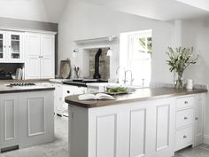 Our hand-painted Chichester kitchen. #CoolWhiteKitchen #NeptuneHome