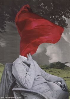 """""""The unthinkable idea in the forgotten world of marble"""" - Collage by Cîmpeanu Cezar"""