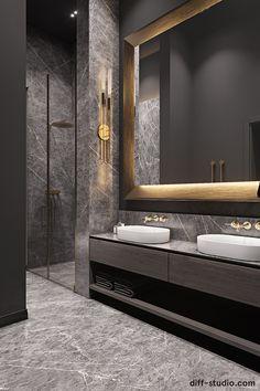 Elegance and comfort. Washroom Design, Toilet Design, Modern Bathroom Design, Bathroom Interior Design, Modern Interior Design, Bedroom False Ceiling Design, Luxury Bedroom Design, Luxury Toilet, Bathroom Design Inspiration